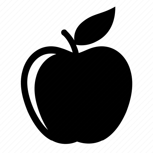 apple, crop, diet, educational symbol, leaf, orchard, organic icon