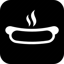 cooking, food, hot dog, meal, sausage, snack, steaming icon