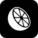 citrus, cooking, food, half, lemon, meal, orange icon