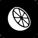 citrus, cooking, food, half, lemon, meal, orange icon