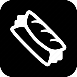 bread, cooking, food, meal, sandwich, wrap icon