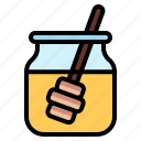 bee, honey, jam, jar icon