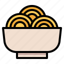 bowl, food, noddle, pasta icon