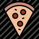 food, pizza, slice, tasty