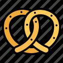 bakery, cake, food, pretzel icon