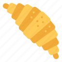bread, breakfast, croissant, meal icon