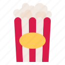 corn, food, popcorn, snack icon