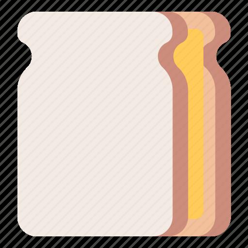 bread, breakfast, meal, sandwich icon