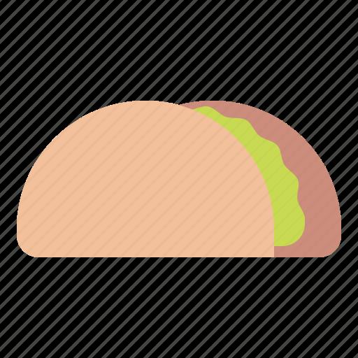 food, taco, tortilla, warp icon