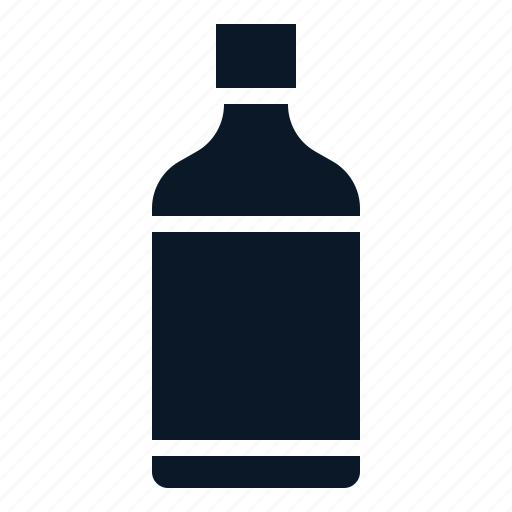beverage, bottle, syrup, water icon