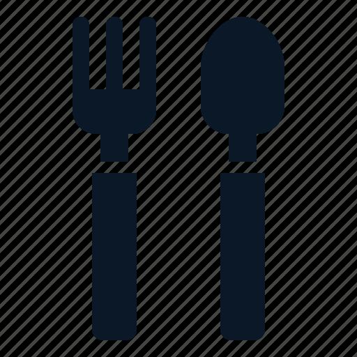 fork, spoon, tableware, utesils icon