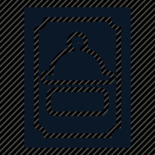 book, menu, order, restaurant icon