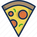 cooking, fast food, food, gastronomy, pizza, restaurant, slice icon