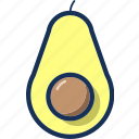 avocado, diet, fresh, fruit, healthy, organic, vegetable icon