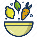 bowl, food, fruit, healthy, kitchen, salad, vegetable icon