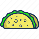 cooking, food, gastronomy, kitchen, mexican, restaurant, taco icon