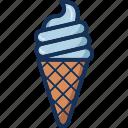 cone, cream, dessert, ice, ice cream, sweet