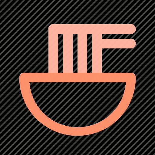 bowl, chopsticks, noodle icon