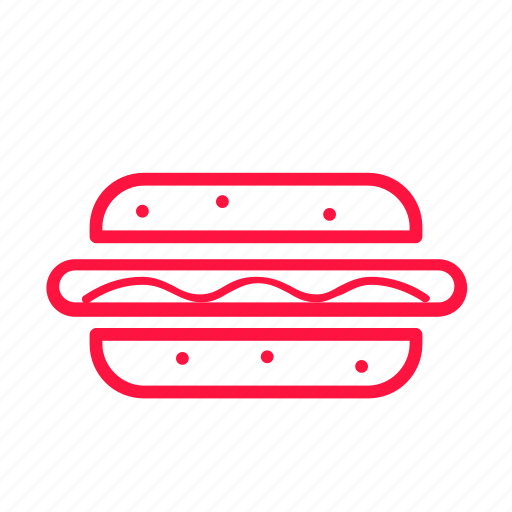food, hot dog, junkfood, line icon