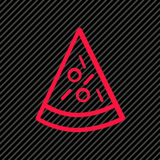 food, junkfood, line, pizza icon