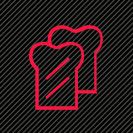 bread, food, junkfood, line, toast icon
