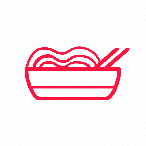 boiled noodles, food, junkfood, line, noodles, ramen icon