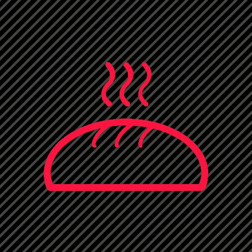 bread, food, junkfood, line icon