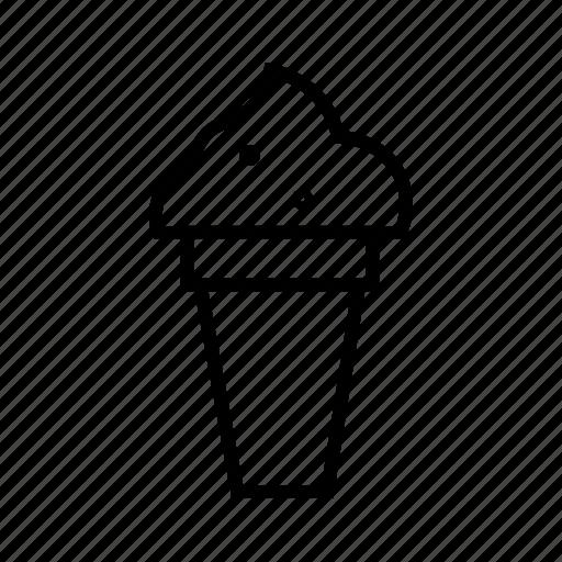 Cone icecream, delicious food, dessert, food, ice cream, icecream, sweet icon - Download on Iconfinder