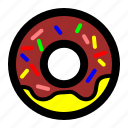 donut, food, dessert, restaurant