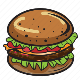 bun, burger, grilled, hamburger, meat, sandwich, seed icon