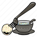 ball, breakfast, dinner, food, pork ball, sausage, soup icon
