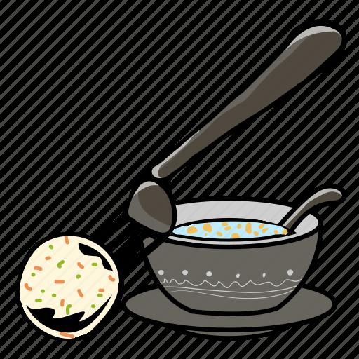 ball, breakfast, dinner, food, pork ball, sausage, soup icon