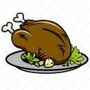 breakfast, chicken, dinner, food, lunch, meat, sausage icon