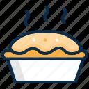 bread, dessert, hot, pan cake, snack, sweet icon