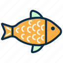 fish, food, restaurant, sea food, seafood icon
