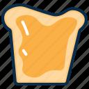 bread, bread omlet, breakfast, butter, food, sandwich, snack