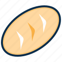 bakery, bread, fastfood, food, hamburger, snack icon
