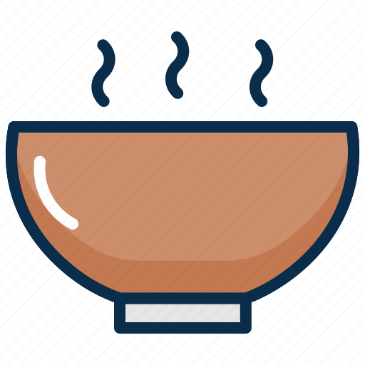 bowl, food, hot, hot soup, meal, soup, spoon icon