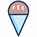 cone ice cream, cream, dessert, ice, icecream, sweet icon