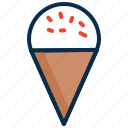 cone icecream, cream, dessert, ice, summer, sweet