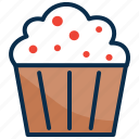 cup cake, cup ice cream, dessert, ice cream, pan cake, sweet icon