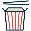 chop stick, cup, food, noodles, package food icon
