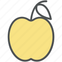 apple, fruit, healthy diet, healthy food, nutrition icon