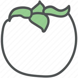 food, fruit, nutrition, persimmon, persimmon fruit icon