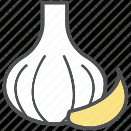allium sativum, garlic, garlic bulb, garlic clove, spice icon