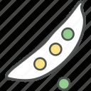 diet, food, legume, pea, peas vegetable, vegetable icon