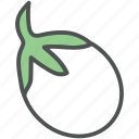 aubergine, brinjal, diet, eggplant, food, vegetable icon