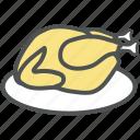 chicken, grilled food, meat, roast, roast chicken, turkey roast icon