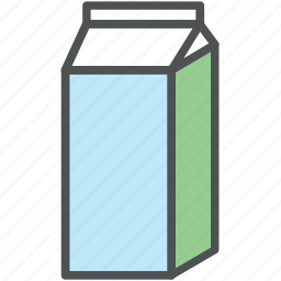 juice carton, juice pack, milk carton, milk container, milk pack icon