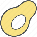 avocado, food, fruit, healthy diet, nutrition, papaya icon